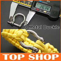 Wholesale U Metal Buckle For Survival Bracelets Stainless Steel g Paracord Bracelet Camping Hiking Survival Para Cord Buckles