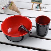Wholesale Japanese style tableware instant noodles bowl melamine tableware soup bowl japanese style bowl bowlful soup bowl ramen bowl