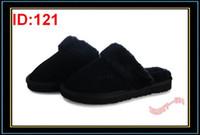 Cheap Mulheres Chinelo Inverno Plush Indoor Chinelos Meninas mistura de lã Antislip Foam Rubber Sole Quente Chinelo Senhoras Shoe Indoor Com Black Box