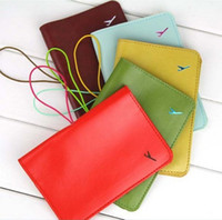Wholesale leather passport cover case Leather Passport ID Card Holder