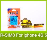 Wholesale Lowest R SIM R SIM8 Gold Version SIM for G s unlock IOS X SIM card adapter iOS DHL MOQ