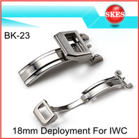 Wholesale BK L Stainless Steel Brushed mm Deployment Buckle Clasp For IWC Big Pilot Butterfly Buckle