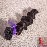 cheap black hair - 1 indian loose wave cheap indian hair weave virgin hair human black hair extension