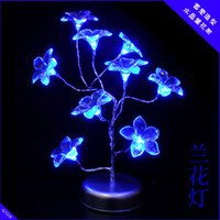 Colored Bulbs   Christmas gifts Creative multivariant style glow crystal flower tree, USB light night light chandeliers seven lights change color fiber opti