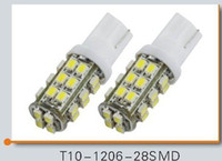 Wholesale 100PCS T10 Car High Power W5W SMD Led Wedge Light Signal Bulbs Dome lights white blue Red