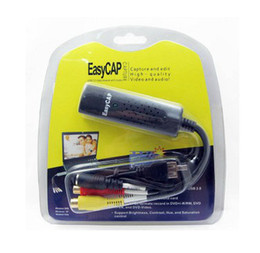 Wholesale USB Easycap dc60 tv dvd vhs video capture card audio av easy cap adapter
