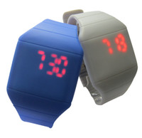 Wholesale Colorful Soft Led Touch watch Jelly Candy silicone digital feeling screen watches