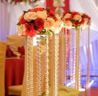 Wholesale Meter Crystal Acrylic Gems Bead Strands Wedding Centerpieces Manzanita Crystlals Tree Garlands Wedding Christmas Decorations
