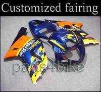 For Suzuki telefonica - INJECTION MOLDING GSXR600 GSXR750 Telefonica yellow blue Bodywork Fairing for Suzuki GSXR GSXR750 GSX R