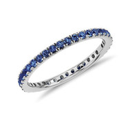 Wholesale Natural Sapphire Eternity Ring k White Gold Wedding Setting Engagement Women Gemstone Ring Certificate Jewelry Factory Direct XBLR0058
