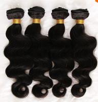 100g Brazilian Hair Black 6A Unprocessed Brazilian Virgin Remy Human Hair extension 4pcs bundle 100g pcs Body Wave Color 1b# or natural color