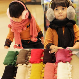Wholesale On Hot Sale Christmas baby scarves children cute cashmere scarf baby warm scarf Children s Scarves amp Wraps size cm for T