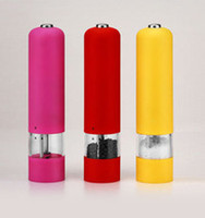 Wholesale 2pcs Electric Peppermill Pepper Mill Sea Salt Spices Grinder New High quality brand new