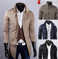 Wholesale 3113 New Hot fashion Men s Casual Slim and long sections simple collar Men s Coat Outerwear