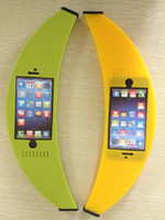 Silicone For Apple iPhone For Christmas stylish big banana outside shape tpu phone case protector for 5G 5S yellow green 10pcs good quality 50pcs EMS free SB3