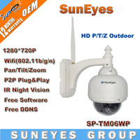 Wholesale SunEyes P MegaPixel HD PTZ IP Camera Wifi Wireless with Pan Tilt Zoom Outdoor Dome IP Network CCTV Camera SP TM06WP