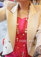 Wholesale Min order is New high quality with letter pearl chains necklace fashion long necklaces charm p