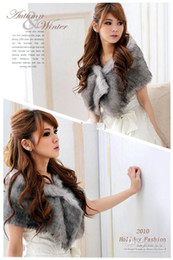 Wholesale New White Bridesmaid Shawl Bridal Shawl faux fur Wedding Shawl Jacket Formal Dress Shawl color