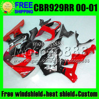 Wholesale 2gifts Free Customized For HONDA Red black silver CBR929RR CBR900RR CBR929 RR MP6584 CBR red RR RR Fairings Kits
