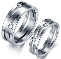 alternative diamond rings - Alternative Creative Crystal Diamond quot Maze quot titanium steel couple rings style option pairs
