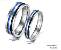 Wholesale Anti allergic individual design accessories quot Black Dream quot titanium steel couple rings style option pairs