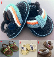 Wholesale 10 off hot style baby sandals summer Crochet toddler shoes cotton shoes non slip baby shoes boy flip flops china shoes pairs