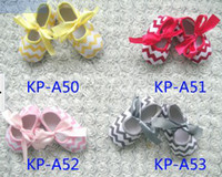 Wholesale 4Pair CHEVRON baby toddler shoes Baby First Walker Shoes children Soft Sole shoes child non slip shoes toddler shoes Size Choose