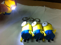 Wholesale Despicable me little yellow man doll thief dads soybeans monocular blame pendant light keychains