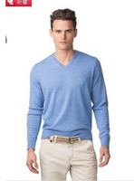 Wholesale Classic TOMMY men s V Neck long sleeve sweater pullovers Cashmere sweaters Jumper size M XXL