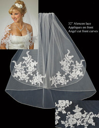 Custom Made short ribbon edging white Ivory wedding veil bridal veils DH6590