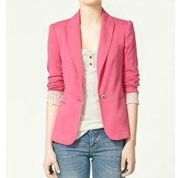 Wholesale New Value Women s Suits Korean Outwear Candy Colors One Button Fit Slim Colors