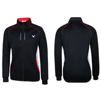 Wholesale Men Badminton Jacket Victor Badminton Jacket Wicking Antistatic Victor J