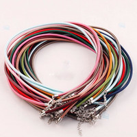 Wholesale 100pcs Multicolor Cord Rope KGP Lobster Clasp Charms Necklace Jewelry Finding