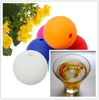 Wholesale 2 quot Silicone Ice Ball Maker Mold Sphere Large Tray Bar Party Whiskey DIY Mould