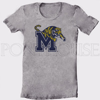 Wholesale top quality pure cotton MEMPHIS TIGERS NCAA mens short sleeve t shirt sport shirt white grey size S XL hot selling