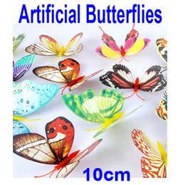Wholesale Cute cm D Artificial Butterfly Luminous Fridge Magnet for Home Christmas Wedding Decoration freeshipping H9720