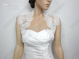 Wholesale Beautydesign Ivory sleeveless Alencon Lace Bolero jacket Bridal Bolero Wedding jacket Bolero Bridal Shrug