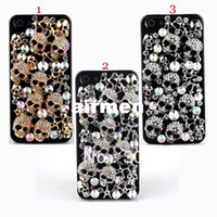 Wholesale Luxury Diamond Crystal Bling Skull Heads Hard Case for Apple iPhone G