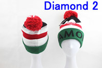 Wholesale New Arrival Diamond Supply Co Beanie Hats with Pom Knitted Wool Warm Winter Caps with tags Men s Knitting beanies