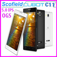 Wholesale 5 Inch CUBOT C11 IPS OGS Screen Android Cell Phone MTK6572 Dual Core GHz M RAM G ROM MP BlueTooth Android