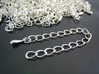 Wholesale DIY Silver Plated Adjustable Chain Closure Extender Finding