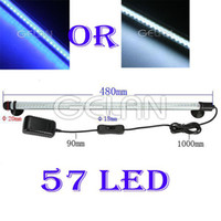 Wholesale LED Aquarium Moon Light Waterproof LED Lighting Lamp Strip SMD Fish Tank LED Lighting Bar White Blue