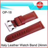 Wholesale High Quality Italy Genuine Leather Wrist Watch Band Strap mm For Panerai With Pre V Buckle