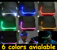 Wholesale green blue red Baseball Caps with Led Lights led colors Led Lighting Baseball Caps with adjustable fastening good quality LED33