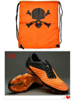 Wholesale with Dustbag Men Soccer Shoes Football Cleats New Venom Outdoor Ball Boots Firm Ground World Cup Team Sports Shoe Cheap US6 Size