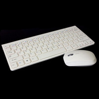 Wholesale 2013 New Arrival Ultrathin G Optical Wireless Keyboard Mouse Suite For PC Laptop Mac White Free Sipping amp