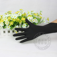 Wholesale Disposable nitrile gloves black nitrile beauty rubber gloves