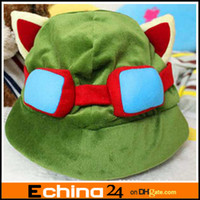 Unisex Animals  Adult League of Legends cosplay cap Hat Teemo hat Plush+ Cotton LOL plush toys Hats Free Shipping