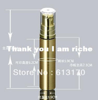 Wholesale 10ML gold airless bottle with gold pump packing bottle