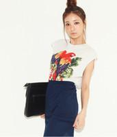 Men Polo Sleeveless fashionSouth Korea Shopping stylenanda same paragraph Parrot T-shirt 8252 #